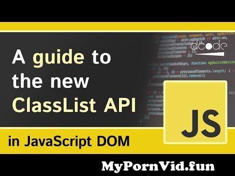 View Full Screen: class list classlist property javascript dom tutorial for beginners.jpg