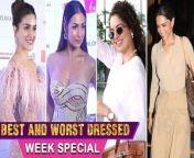 Here's Presenting Week's Best & Worst Dressed Of the Bollywood Stars Kangana Ranaut, Deepika Padukone, Kareena Kapoor, Kiara Advani, Nora Fatehi. Watch out!<br/>